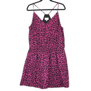 Milly Leopard Print Ciera tank dress A0680